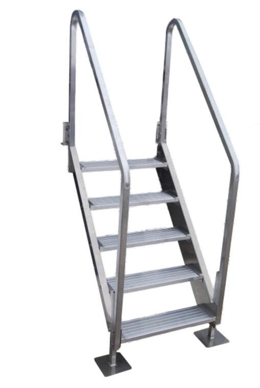 5 Step All Aluminum Stair