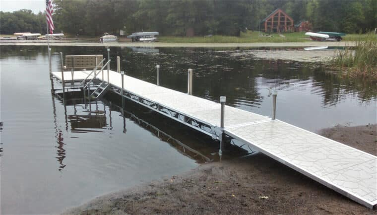 Bench, Dock Stairs and Vertex Decking on TS9